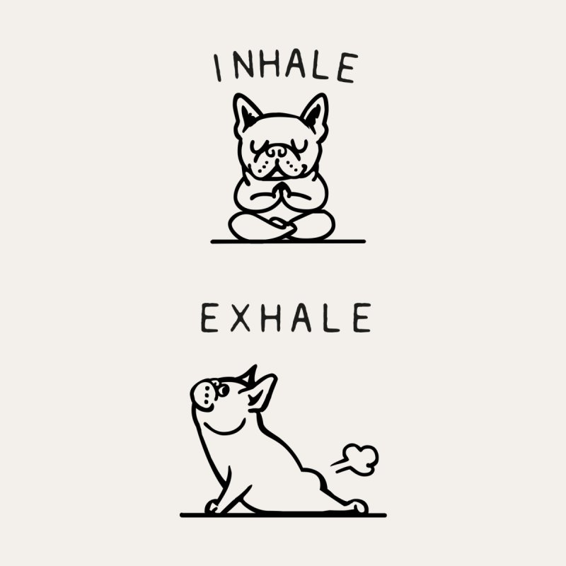 Inhale Exhale French Bulldog Accessories Bag by Pugs Gym's Artist Shop