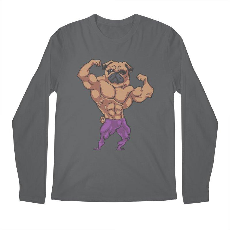 Just Lift Men's Longsleeve T-Shirt by Pugs Gym's Artist Shop