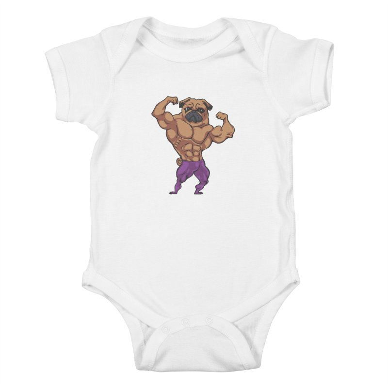 Just Lift Kids Baby Bodysuit by Pugs Gym's Artist Shop