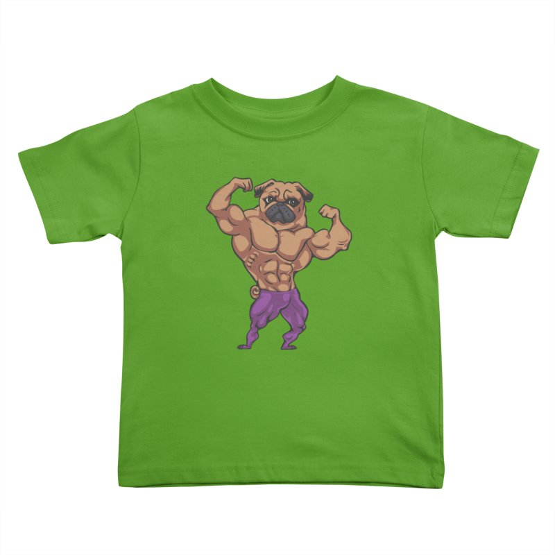 Just Lift Kids Toddler T-Shirt by Pugs Gym's Artist Shop