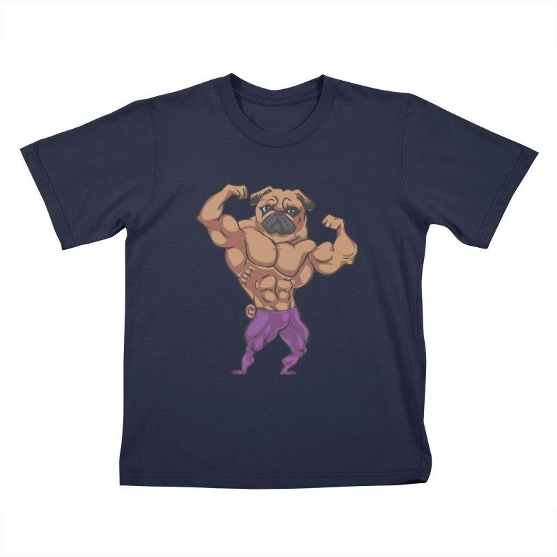 Just Lift Kids T-Shirt by Pugs Gym's Artist Shop