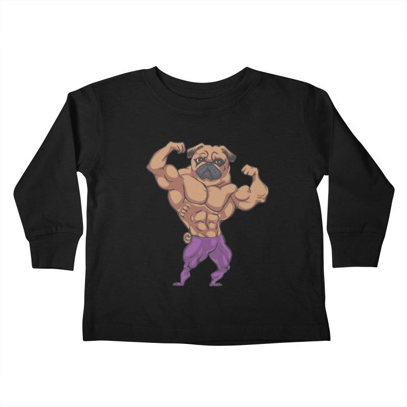 Just Lift Kids Toddler Longsleeve T-Shirt by Pugs Gym's Artist Shop