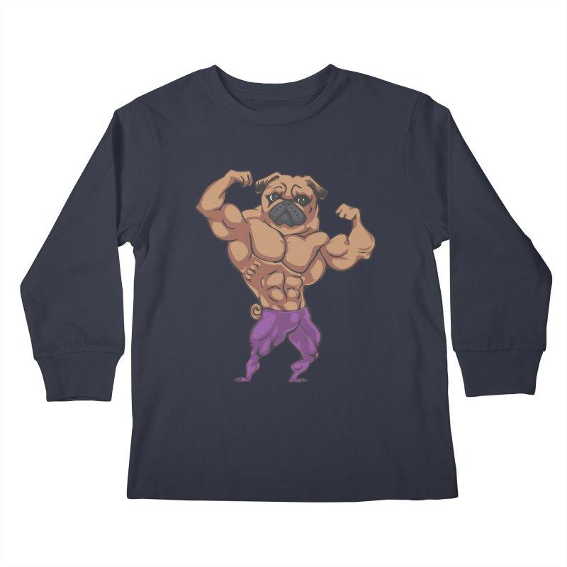 Just Lift Kids Longsleeve T-Shirt by Pugs Gym's Artist Shop