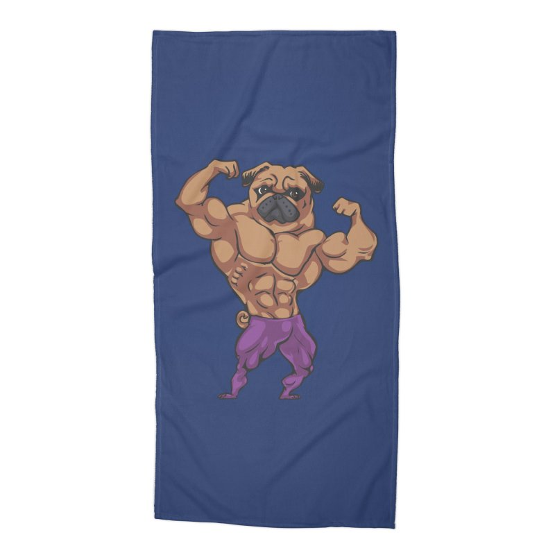 Just Lift Accessories Beach Towel by Pugs Gym's Artist Shop