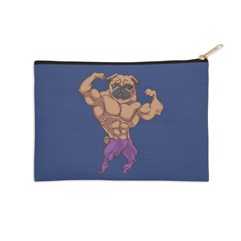 Just Lift Accessories Zip Pouch by Pugs Gym's Artist Shop