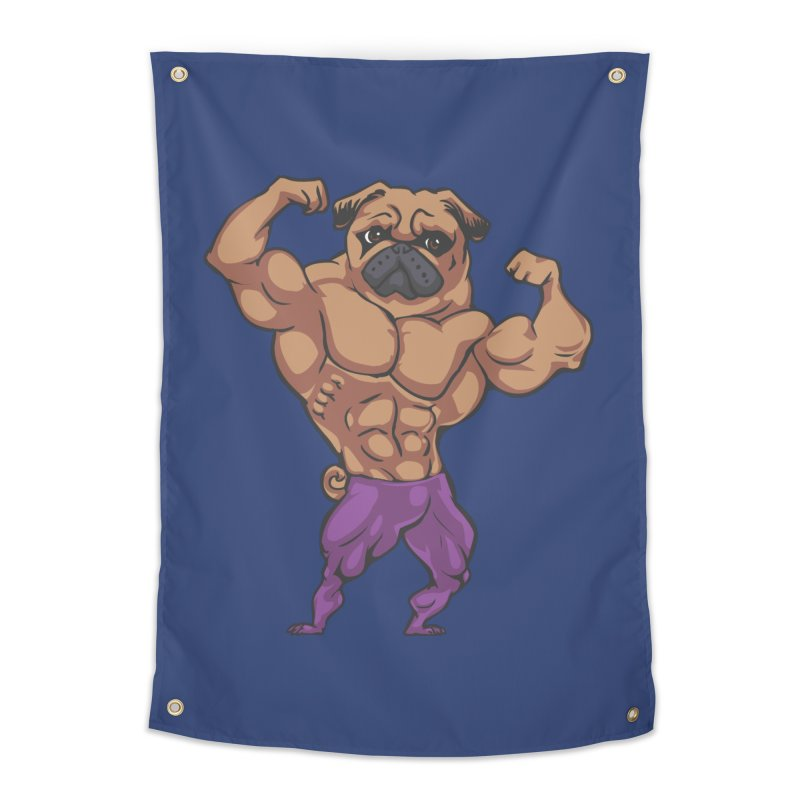 Just Lift Home Tapestry by Pugs Gym's Artist Shop