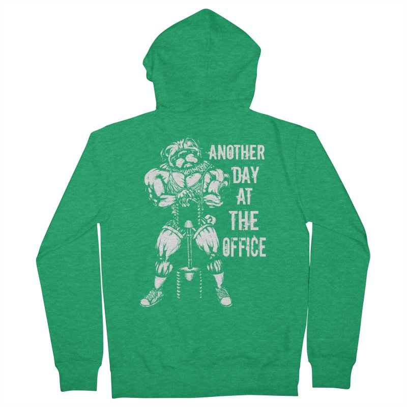 Another Day At The Office Women's Zip-Up Hoody by Pugs Gym's Artist Shop