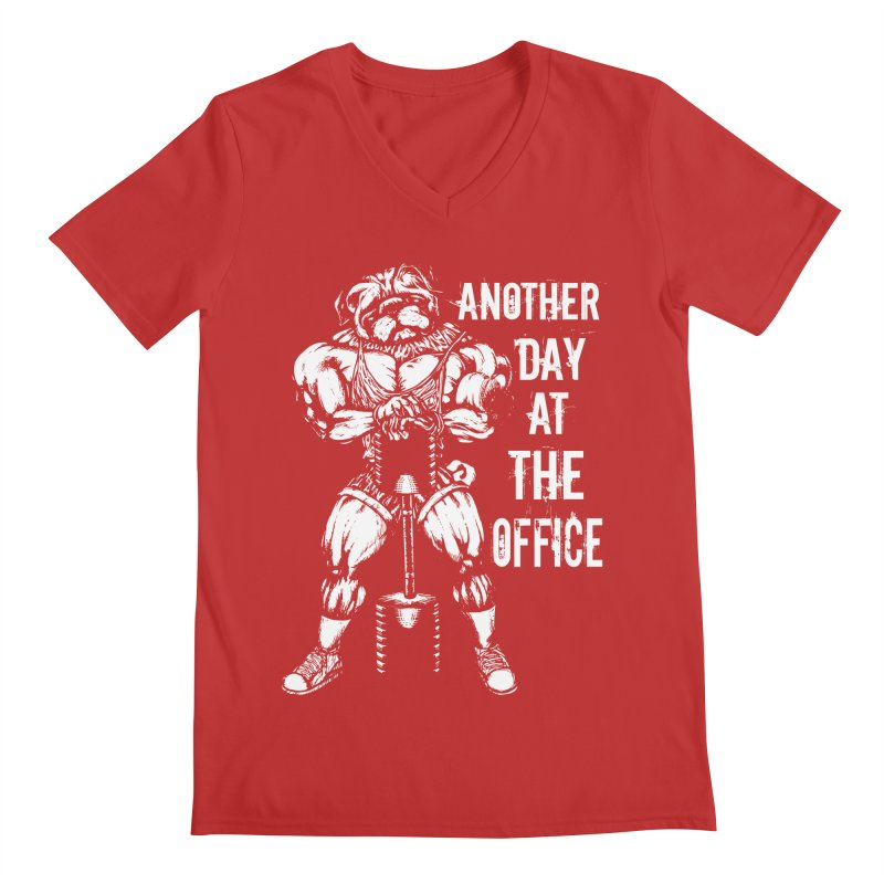 Another Day At The Office Men's V-Neck by Pugs Gym's Artist Shop