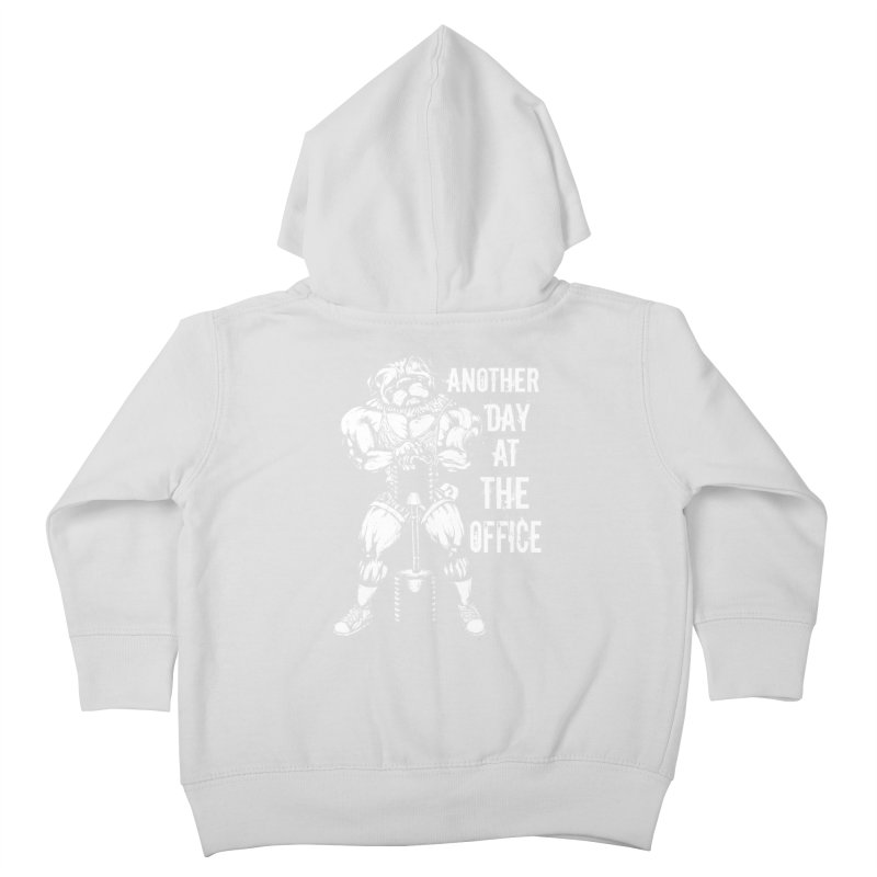 Another Day At The Office Kids Toddler Zip-Up Hoody by Pugs Gym's Artist Shop
