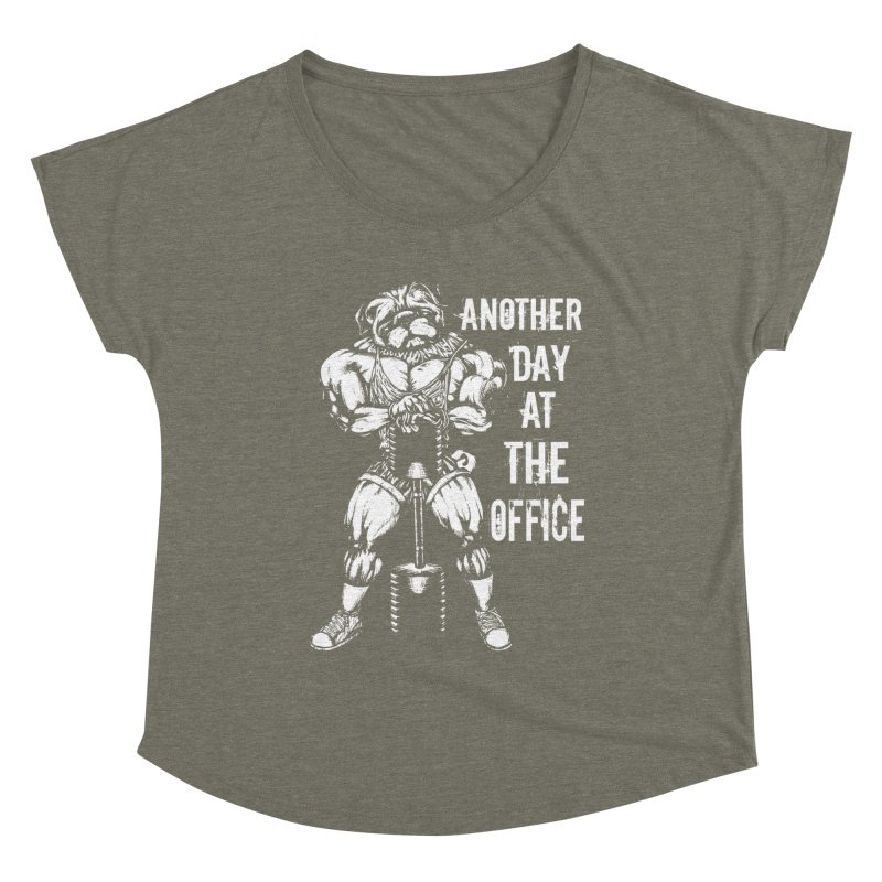 Another Day At The Office Women's Scoop Neck by Pugs Gym's Artist Shop