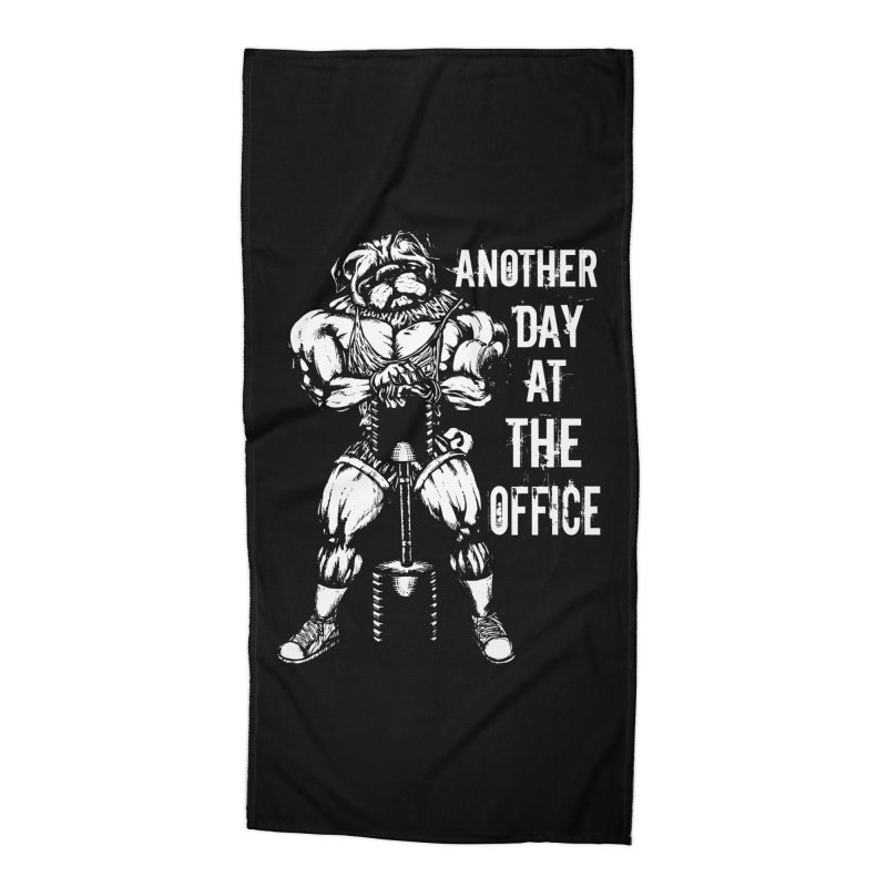 Another Day At The Office Accessories Beach Towel by Pugs Gym's Artist Shop