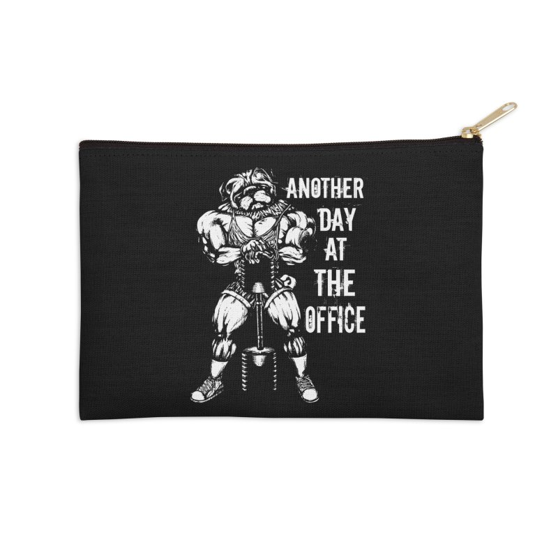 Another Day At The Office Accessories Zip Pouch by Pugs Gym's Artist Shop