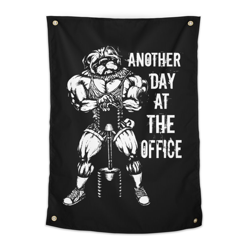 Another Day At The Office Home Tapestry by Pugs Gym's Artist Shop