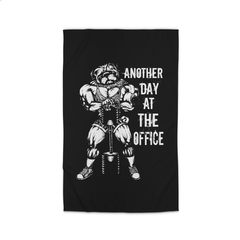 Another Day At The Office Home Rug by Pugs Gym's Artist Shop