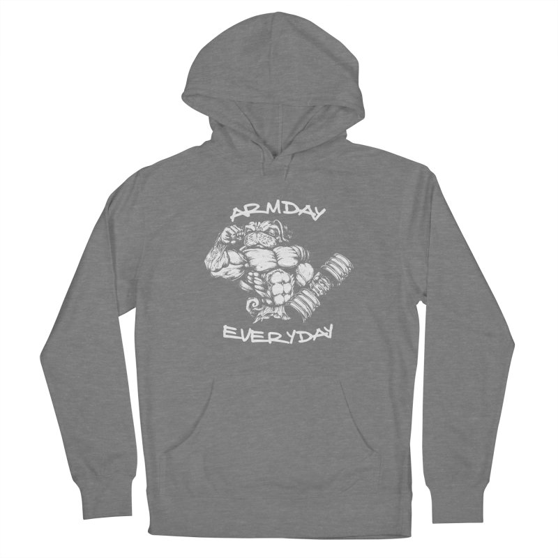 Arm Day Everyday Women's Pullover Hoody by Pugs Gym's Artist Shop