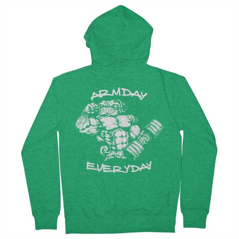 Arm Day Everyday Men's Zip-Up Hoody by Pugs Gym's Artist Shop