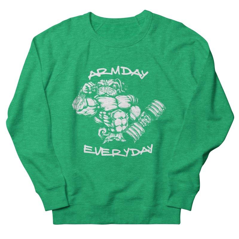 Arm Day Everyday Women's Sweatshirt by Pugs Gym's Artist Shop