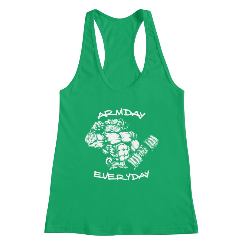 Arm Day Everyday Women's Tank by Pugs Gym's Artist Shop
