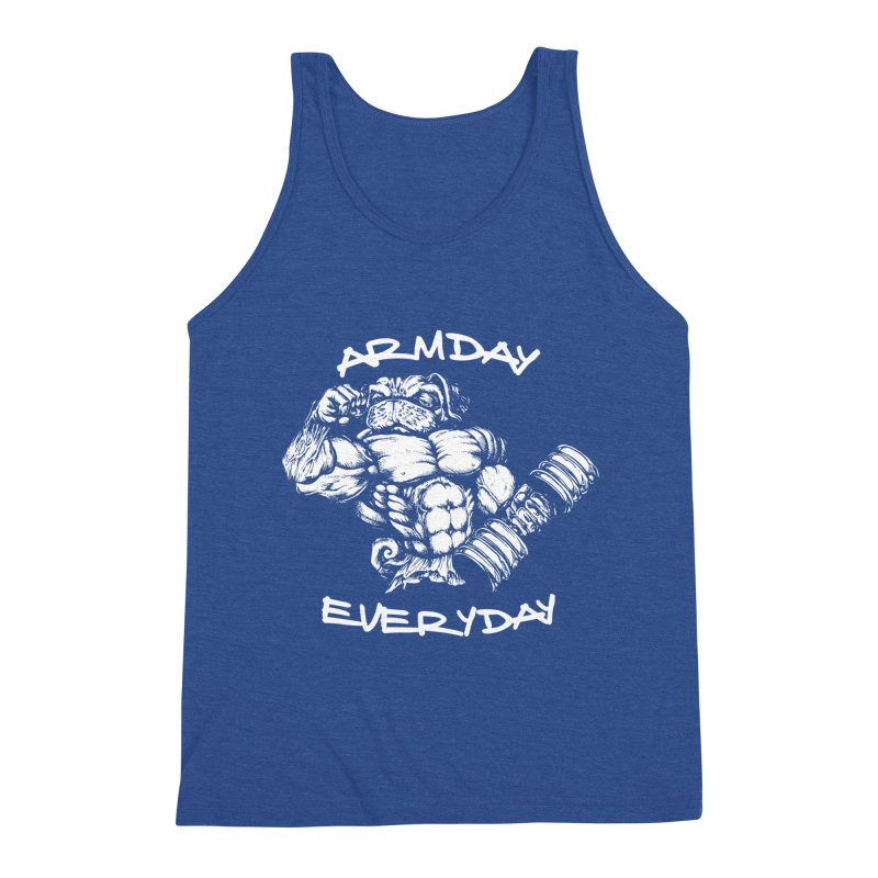 Arm Day Everyday Men's Tank by Pugs Gym's Artist Shop