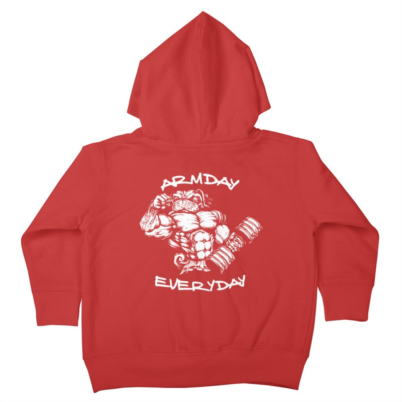 Arm Day Everyday Kids Toddler Zip-Up Hoody by Pugs Gym's Artist Shop