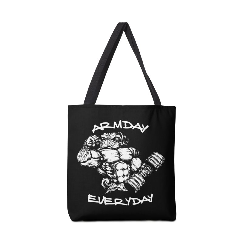 Arm Day Everyday Accessories Bag by Pugs Gym's Artist Shop