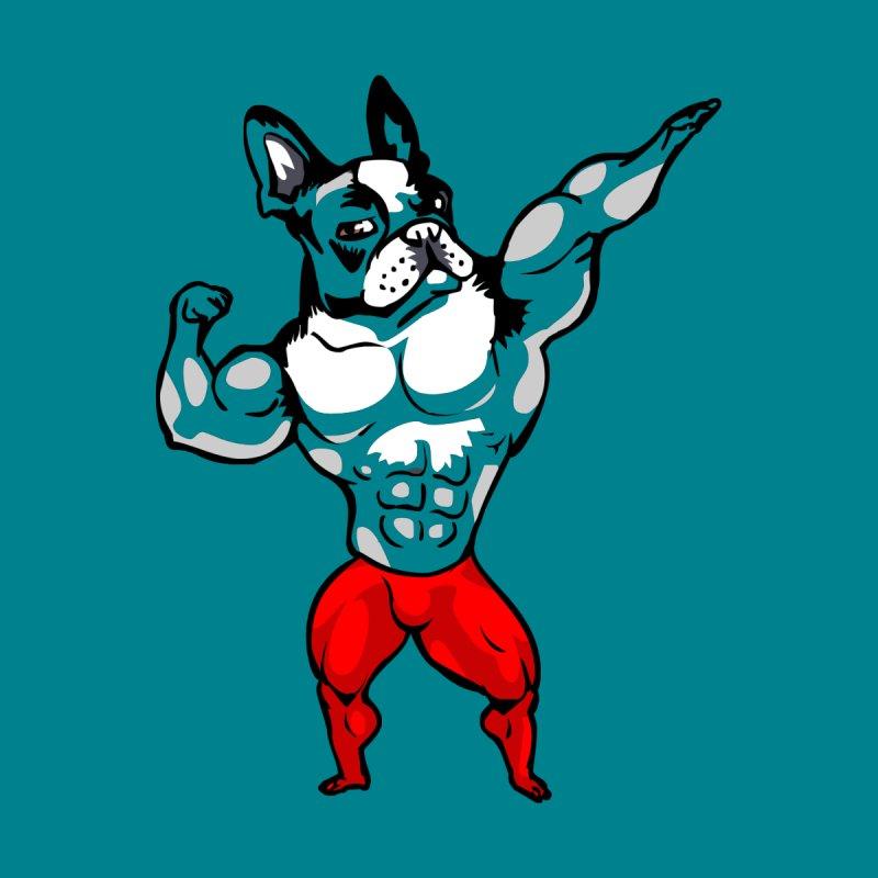 Boston Terrier Bodybuilder by Pugs Gym's Artist Shop