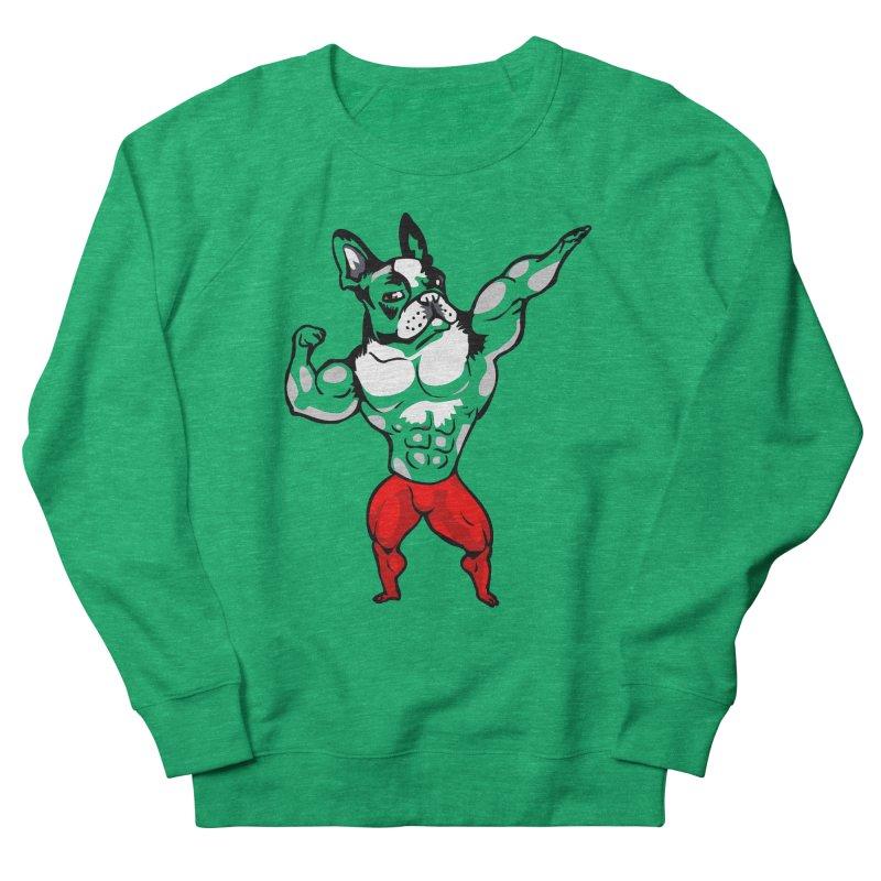 Boston Terrier Bodybuilder Women's Sweatshirt by Pugs Gym's Artist Shop