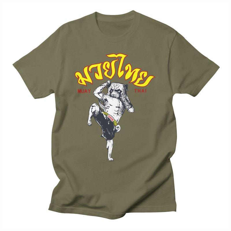Pug Muay Thai Men's T-Shirt by Pugs Gym's Artist Shop