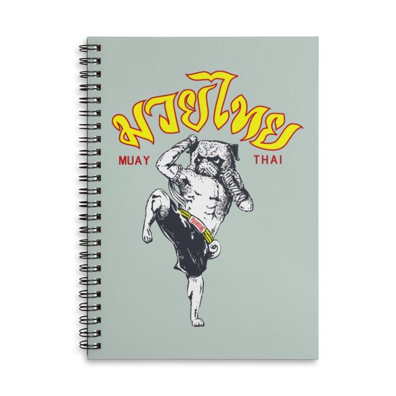 Pug Muay Thai Accessories Notebook by Pugs Gym's Artist Shop
