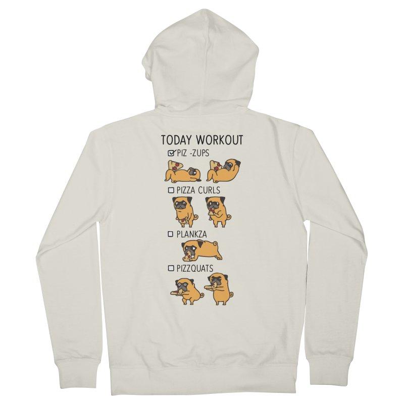 I Train to Kick Ass Women's Zip-Up Hoody by Pugs Gym's Artist Shop