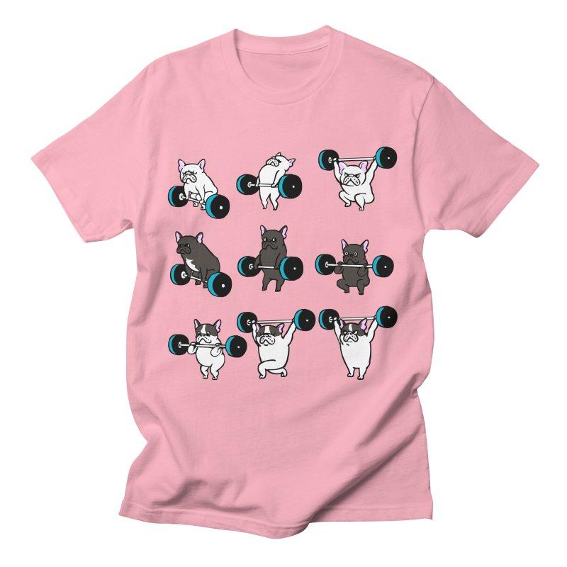 Olympic LIifting  French Bulldog Men's T-Shirt by Pugs Gym's Artist Shop