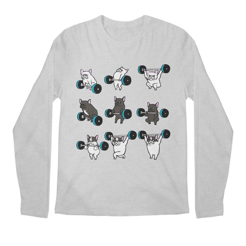 Olympic LIifting  French Bulldog Men's Longsleeve T-Shirt by Pugs Gym's Artist Shop