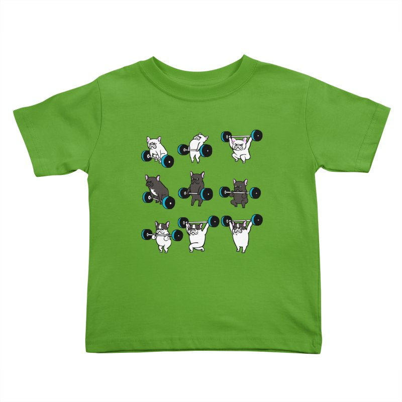Olympic LIifting  French Bulldog Kids Toddler T-Shirt by Pugs Gym's Artist Shop