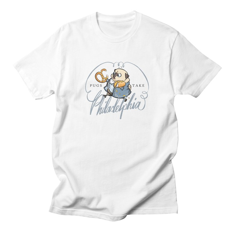 Fave Philly Foods - fawn Men's T-Shirt by Pugs Take Philly 2020