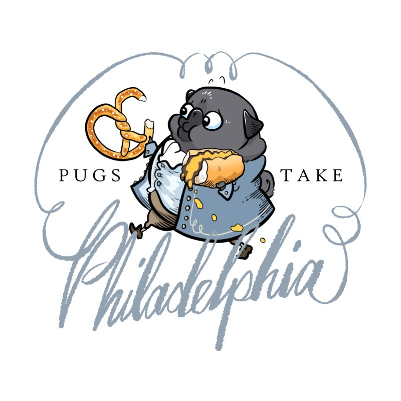 Fave Philly Foods - black Men's T-Shirt by Pugs Take Philly 2020