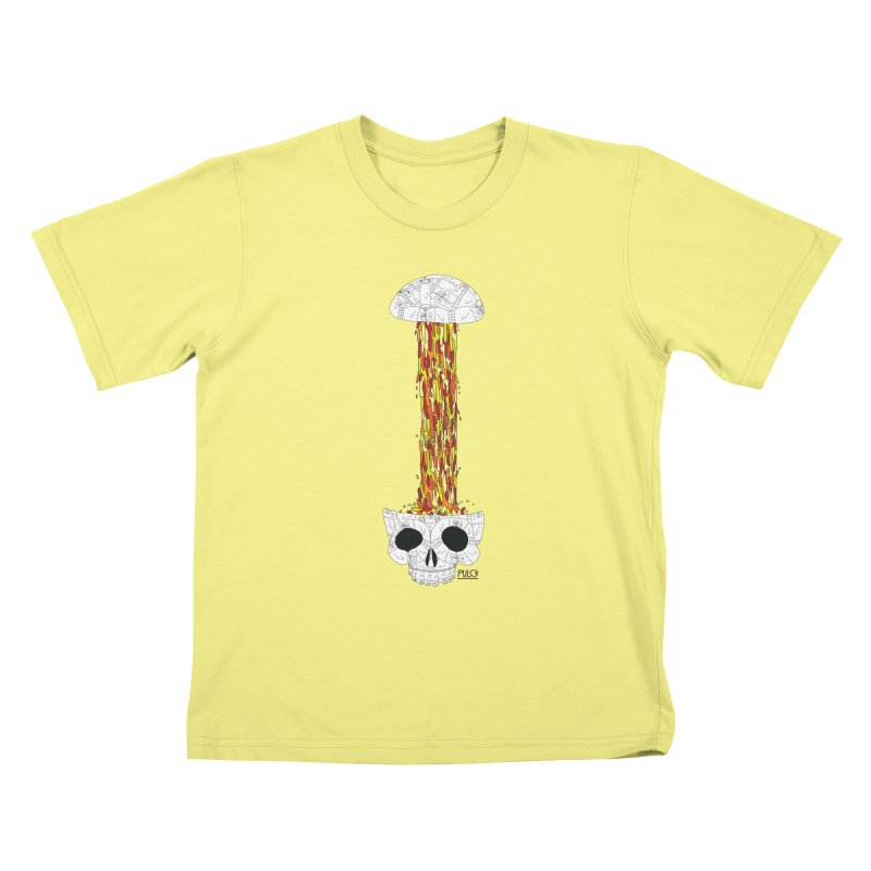 Skull-splah Kids T-shirt by pulce's Artist Shop