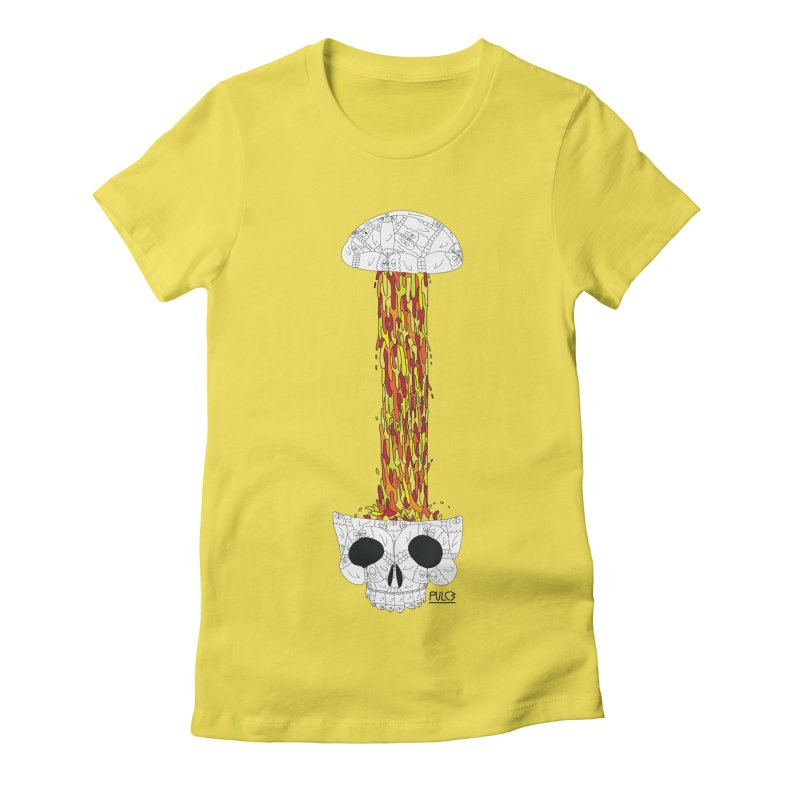 Skull-splah Women's Fitted T-Shirt by pulce's Artist Shop