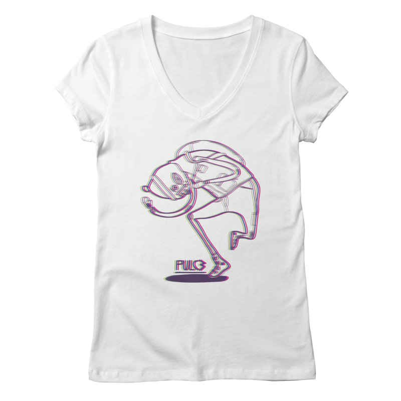 Dance Man Women's V-Neck by pulce's Artist Shop