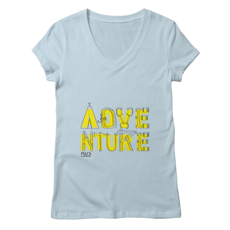 Adventure Women's V-Neck by pulce's Artist Shop
