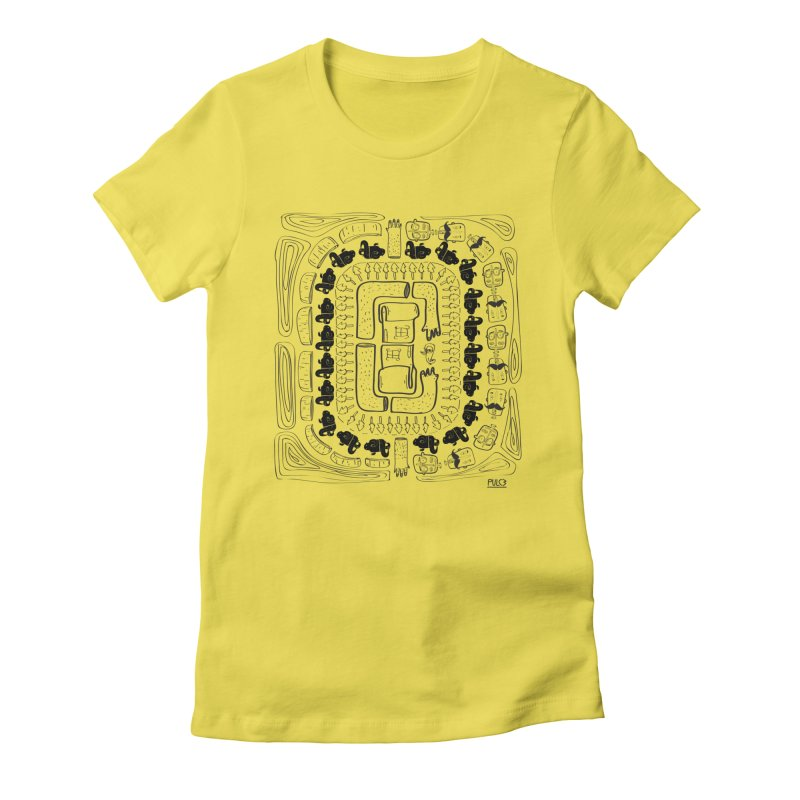 World around you Women's Fitted T-Shirt by pulce's Artist Shop