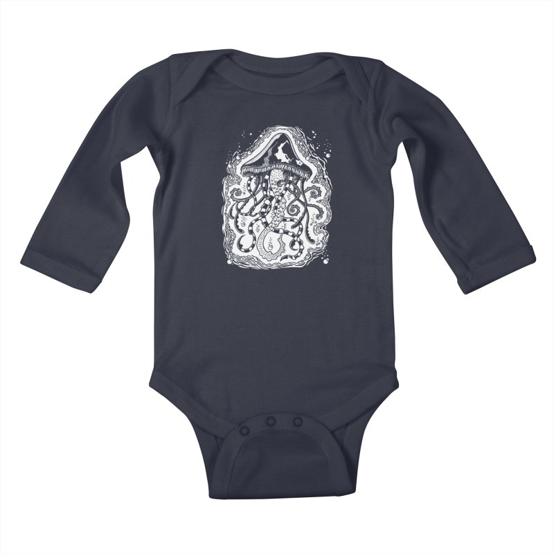 Venom Jellyfish Kids Baby Longsleeve Bodysuit by punchofpaint's Artist Shop