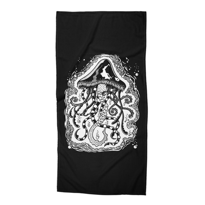 Venom Jellyfish Accessories Beach Towel by punchofpaint's Artist Shop