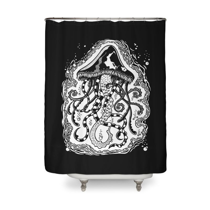 Venom Jellyfish Home Shower Curtain by punchofpaint's Artist Shop
