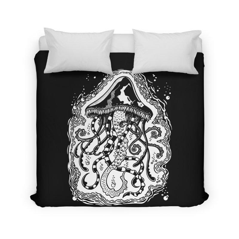 Venom Jellyfish Home Duvet by punchofpaint's Artist Shop