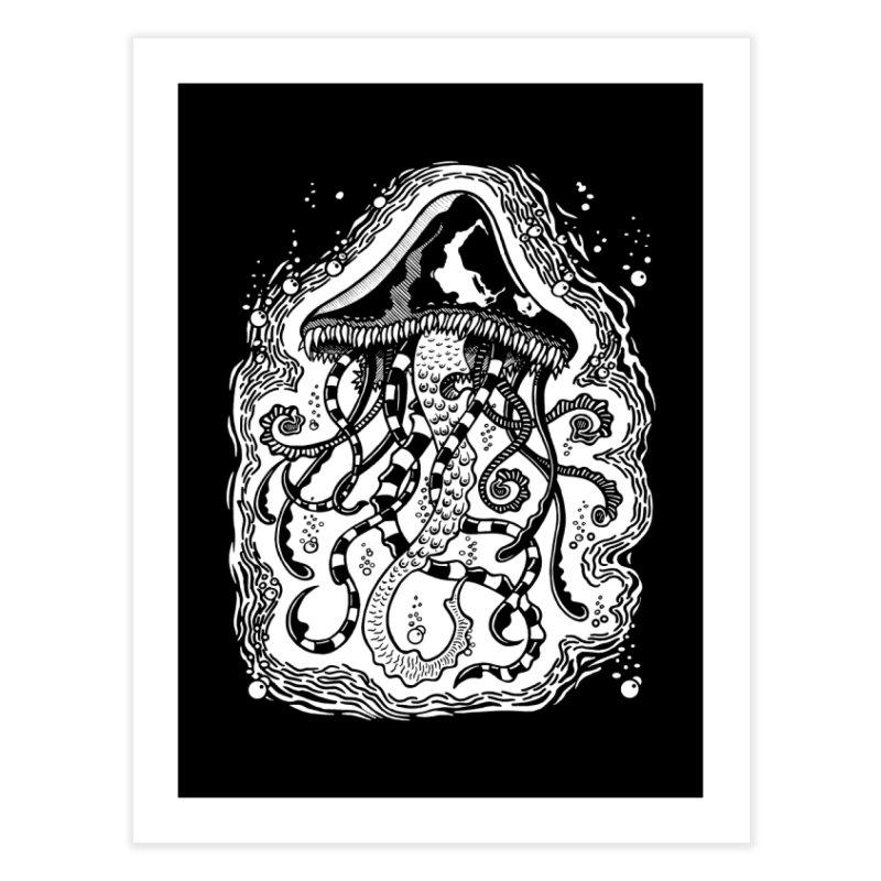 Venom Jellyfish Home Fine Art Print by punchofpaint's Artist Shop