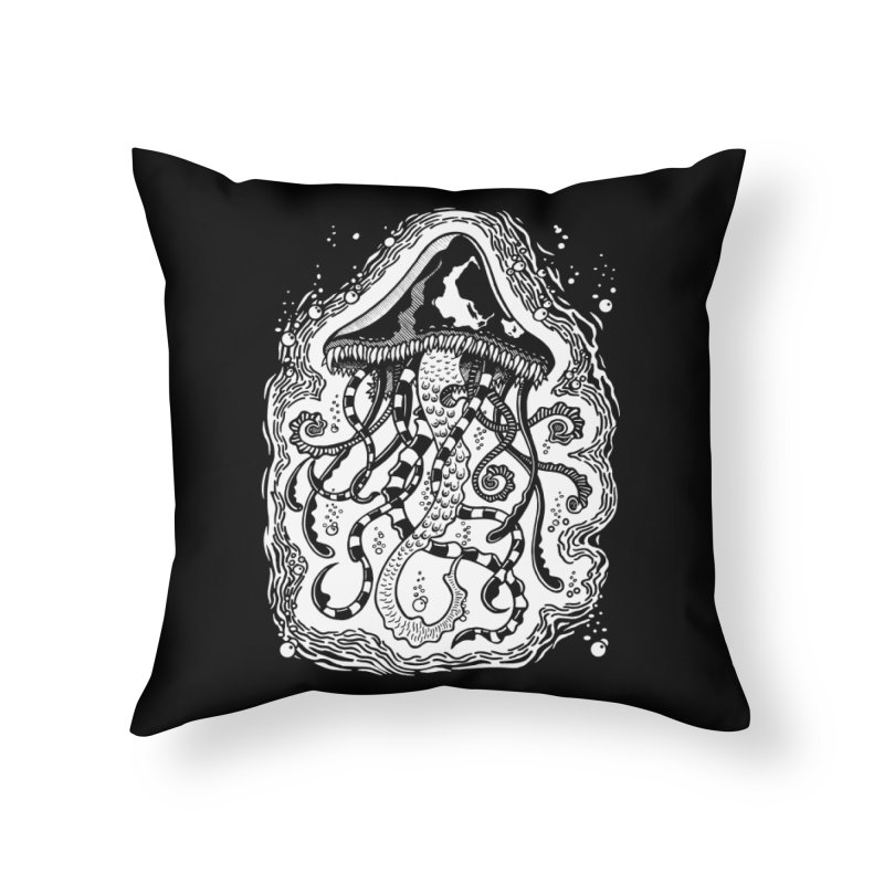 Venom Jellyfish Home Throw Pillow by punchofpaint's Artist Shop