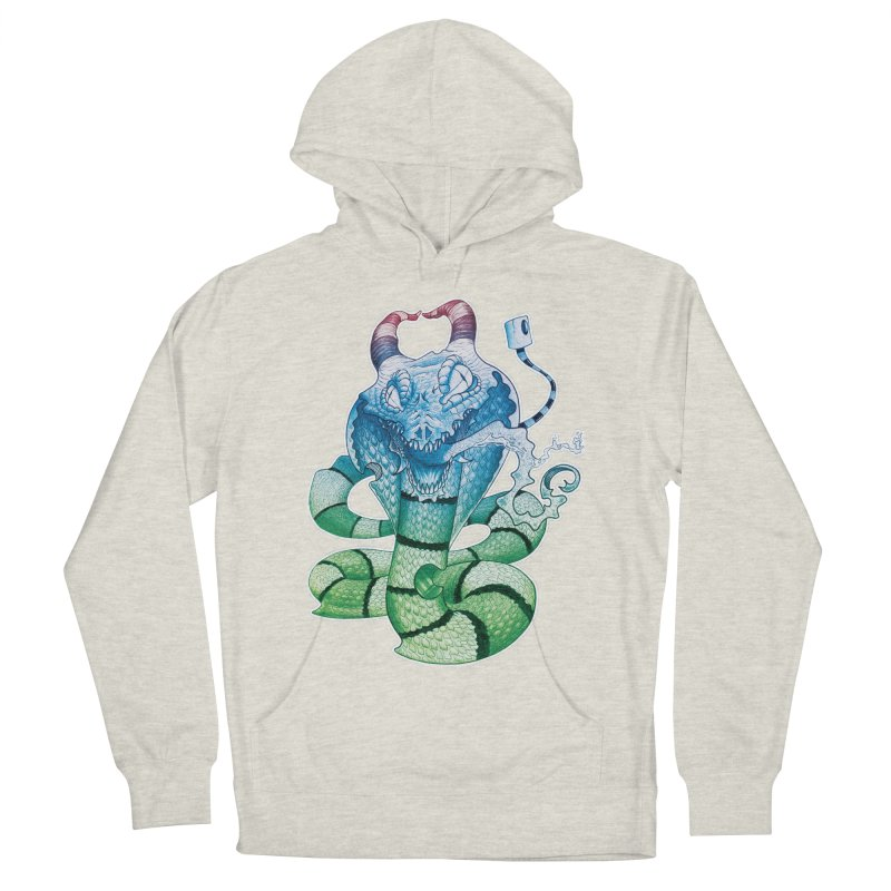 Demon Snake Men's Pullover Hoody by punchofpaint's Artist Shop