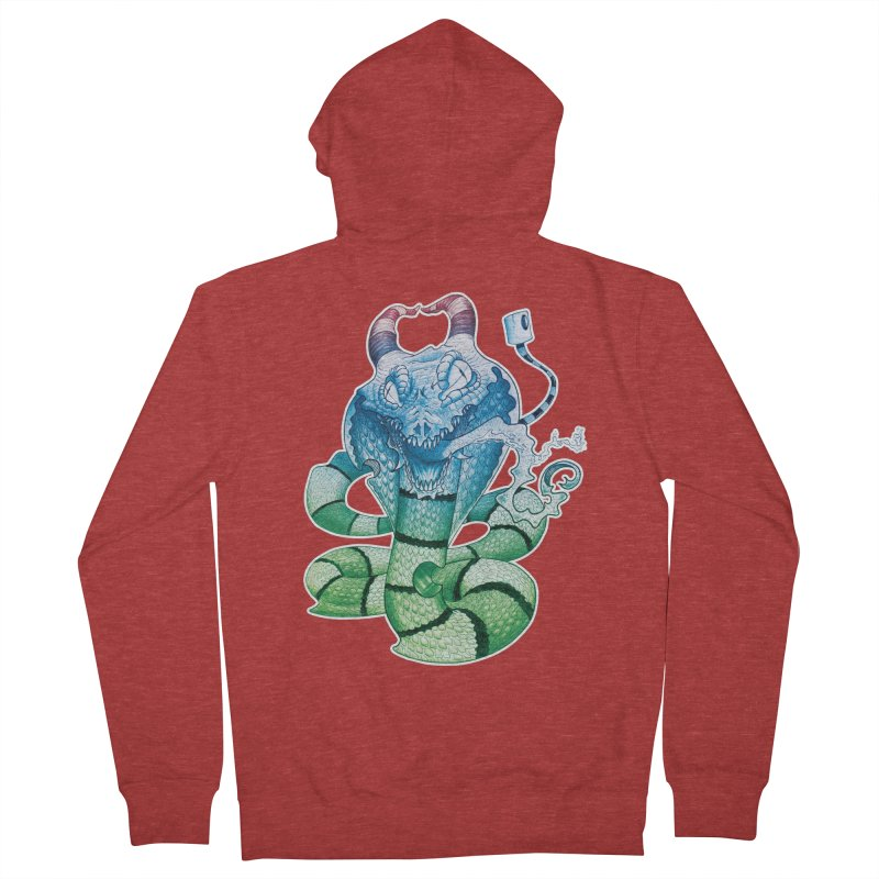 Demon Snake Men's Zip-Up Hoody by punchofpaint's Artist Shop