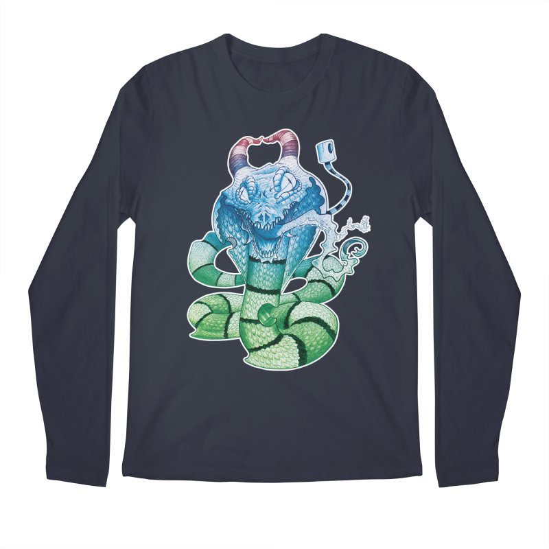 Demon Snake Men's Longsleeve T-Shirt by punchofpaint's Artist Shop