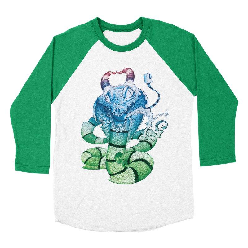 Demon Snake Women's Baseball Triblend T-Shirt by punchofpaint's Artist Shop